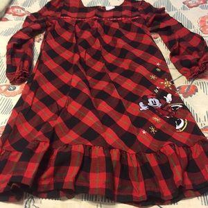 Disney store girls 7/8 Plaid Minnie dress holiday